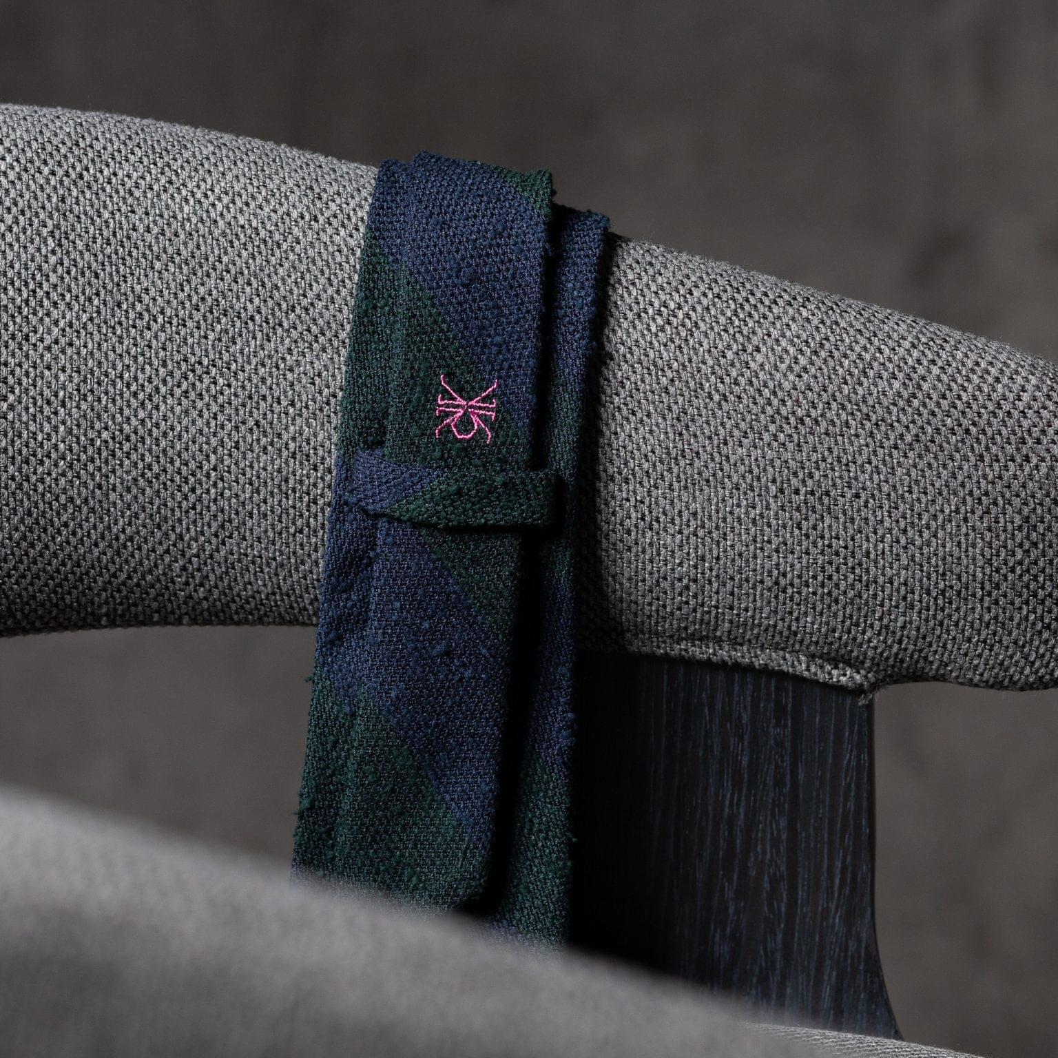 SHANTUNG-0271-Tie-Initials-Corbata-Iniciales-The-Seelk-4