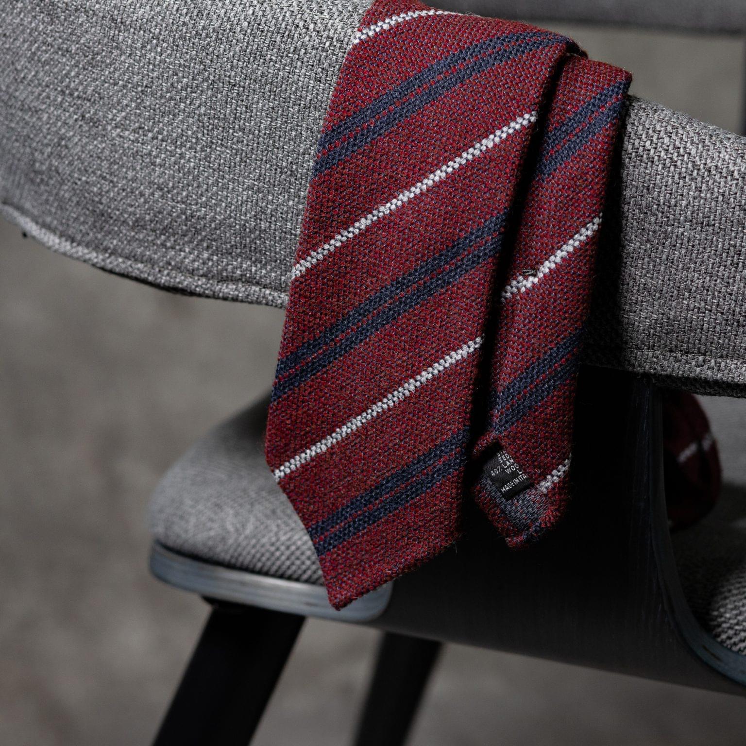 WOOL-LANA-0482-Tie-Initials-Corbata-Iniciales-The-Seelk-2