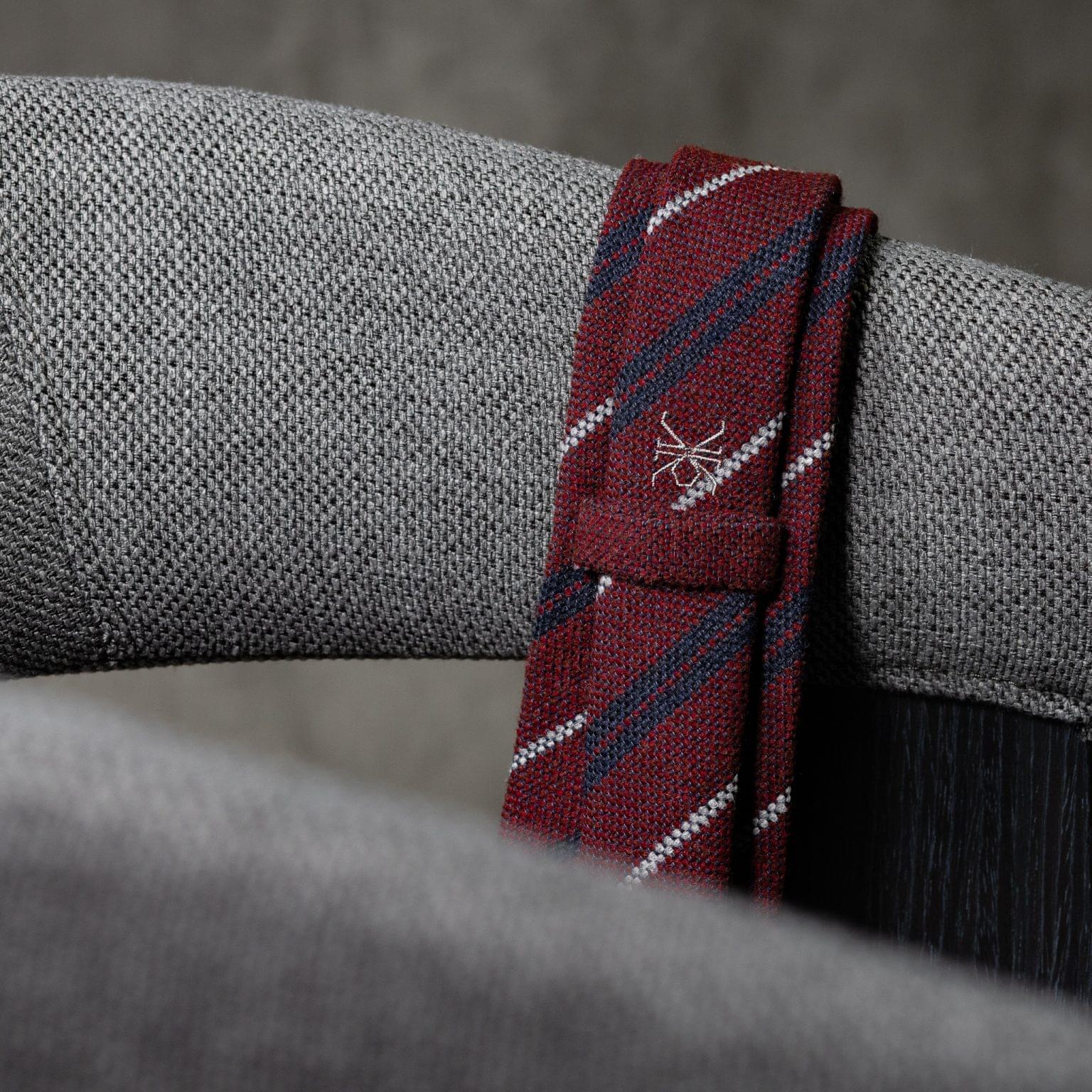 WOOL-LANA-0482-Tie-Initials-Corbata-Iniciales-The-Seelk-4