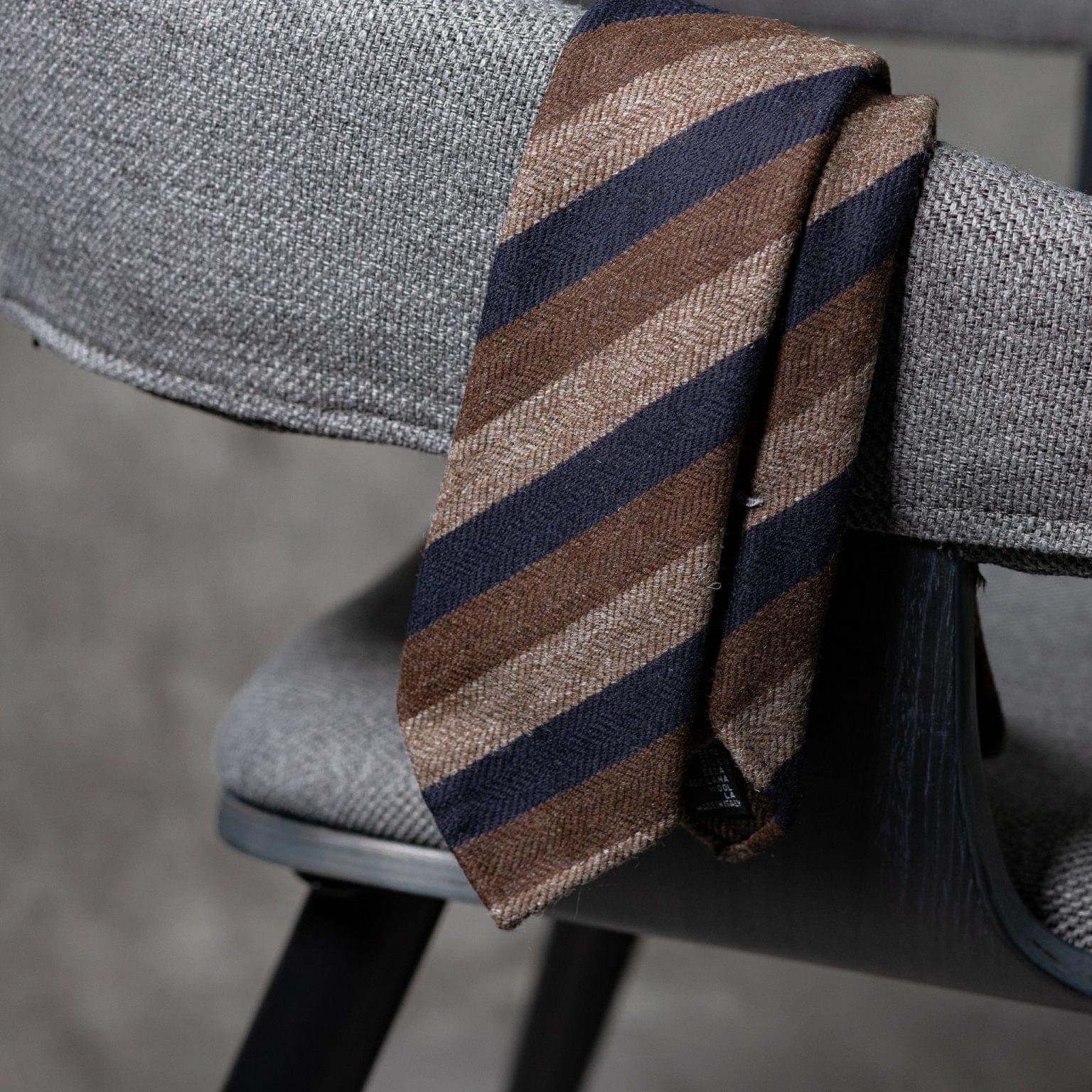 WOOL-LANA-0515-Tie-Initials-Corbata-Iniciales-The-Seelk-2