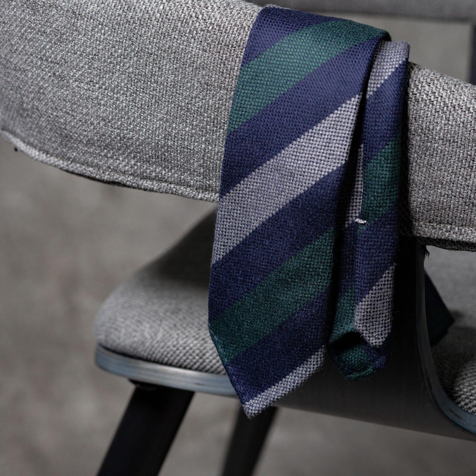 WOOL-LANA-0517-Tie-Initials-Corbata-Iniciales-The-Seelk-2
