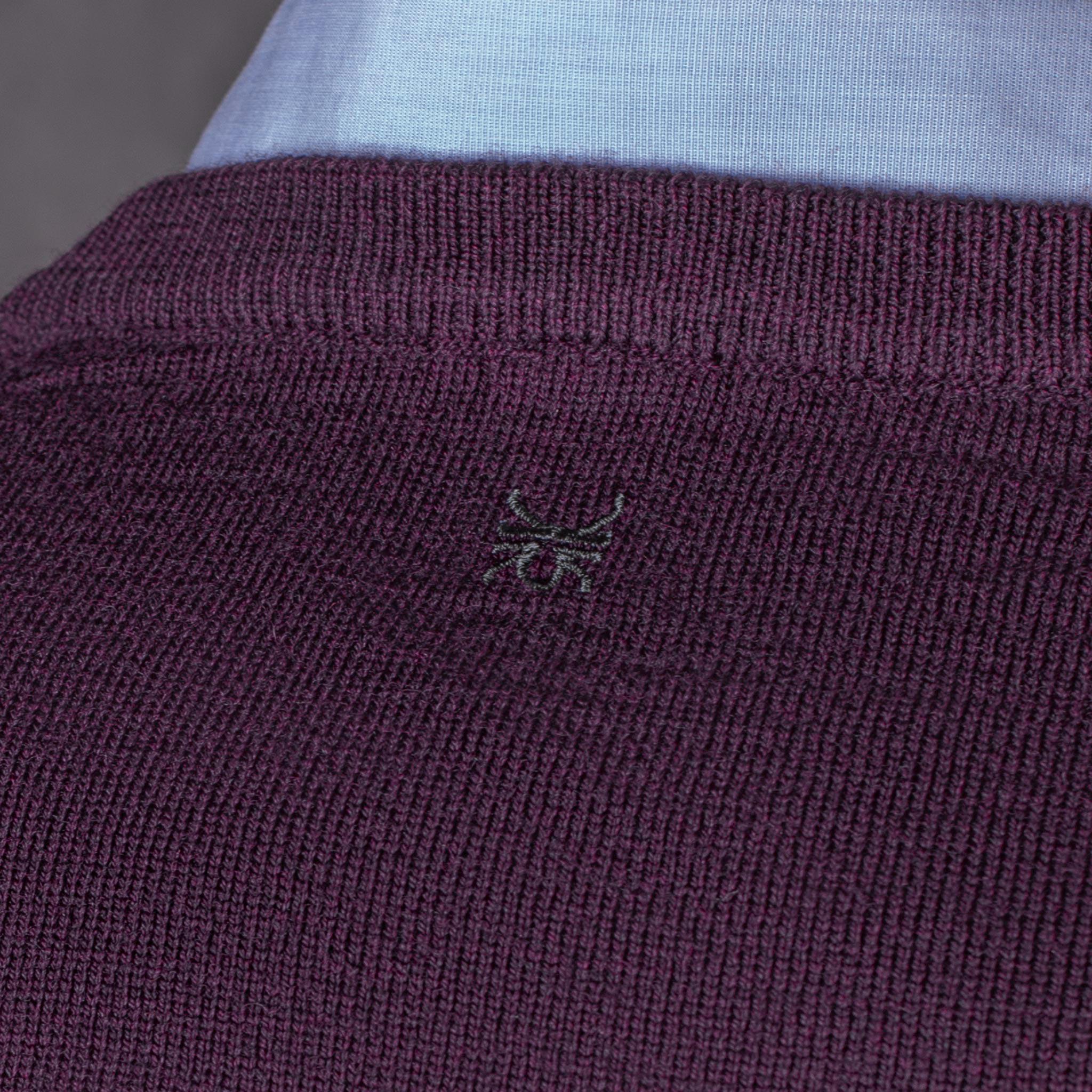 V-NECK PULLOVER 01.03 PURPLE JERSEY PICO 01.03 MORADO The Seëlk 9