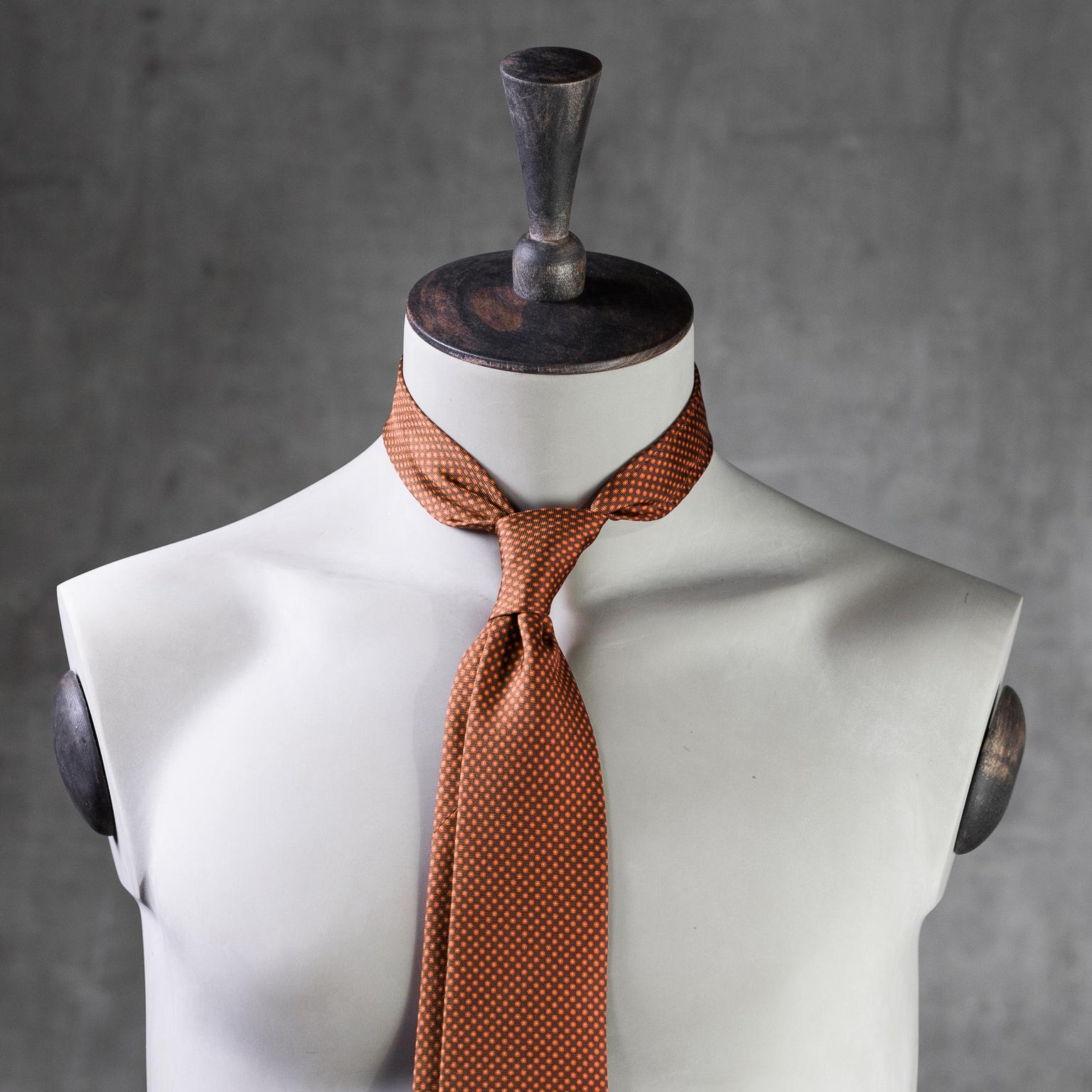 PRINTED SILK SEDA ESTAMPADA-0568-Tie-Initials-Corbata-Iniciales-The Seëlk-2