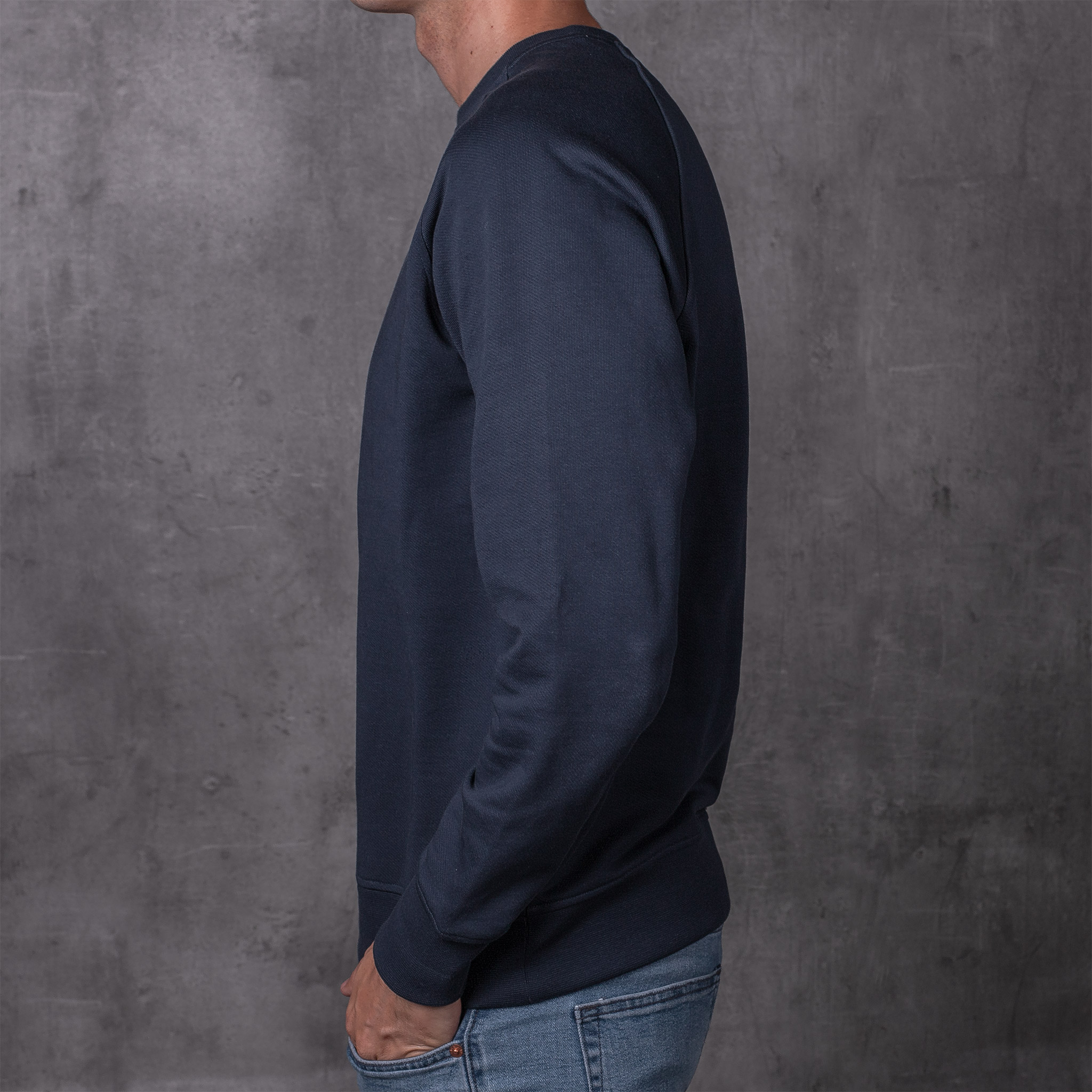 SWEATSHIRT 01.01 NAVY SUDADERA 01.01 AZUL The Seëlk 2