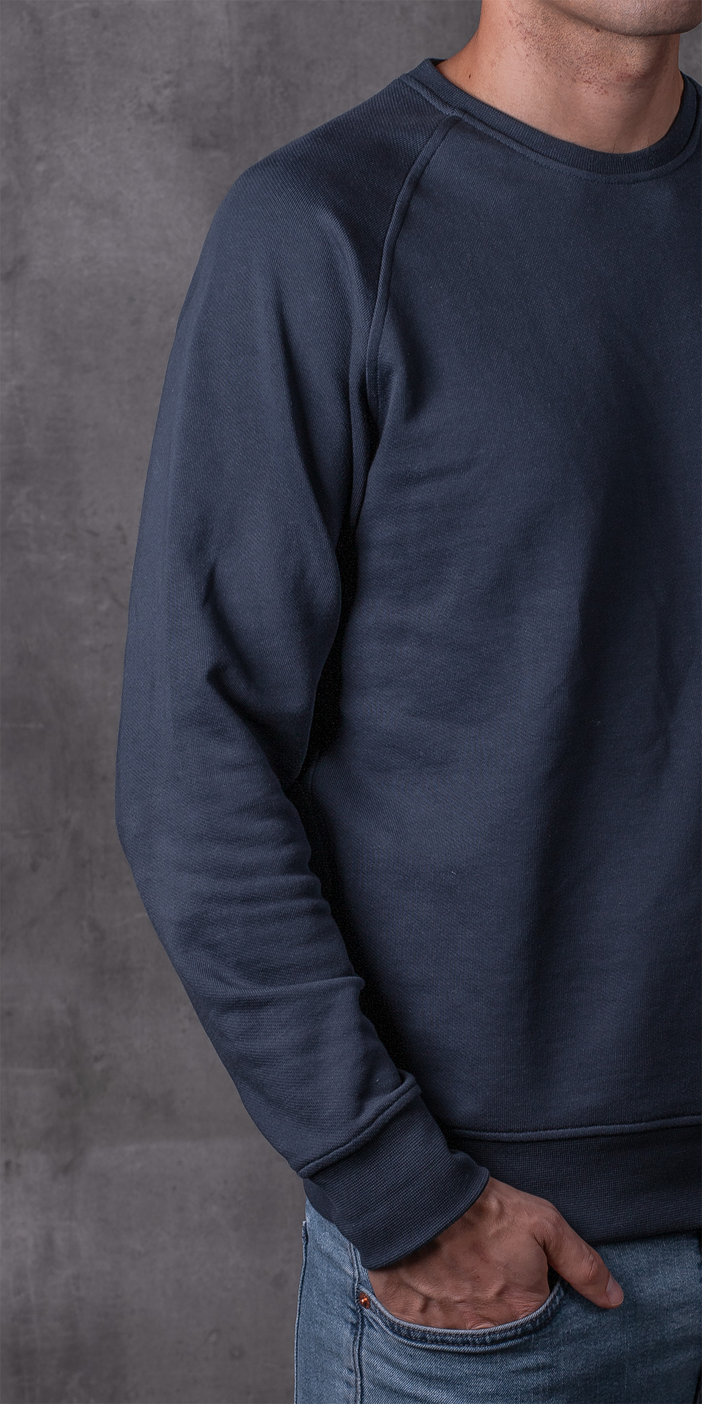 SWEATSHIRT 01.01 NAVY SUDADERA 01.01 AZUL The Seëlk 7