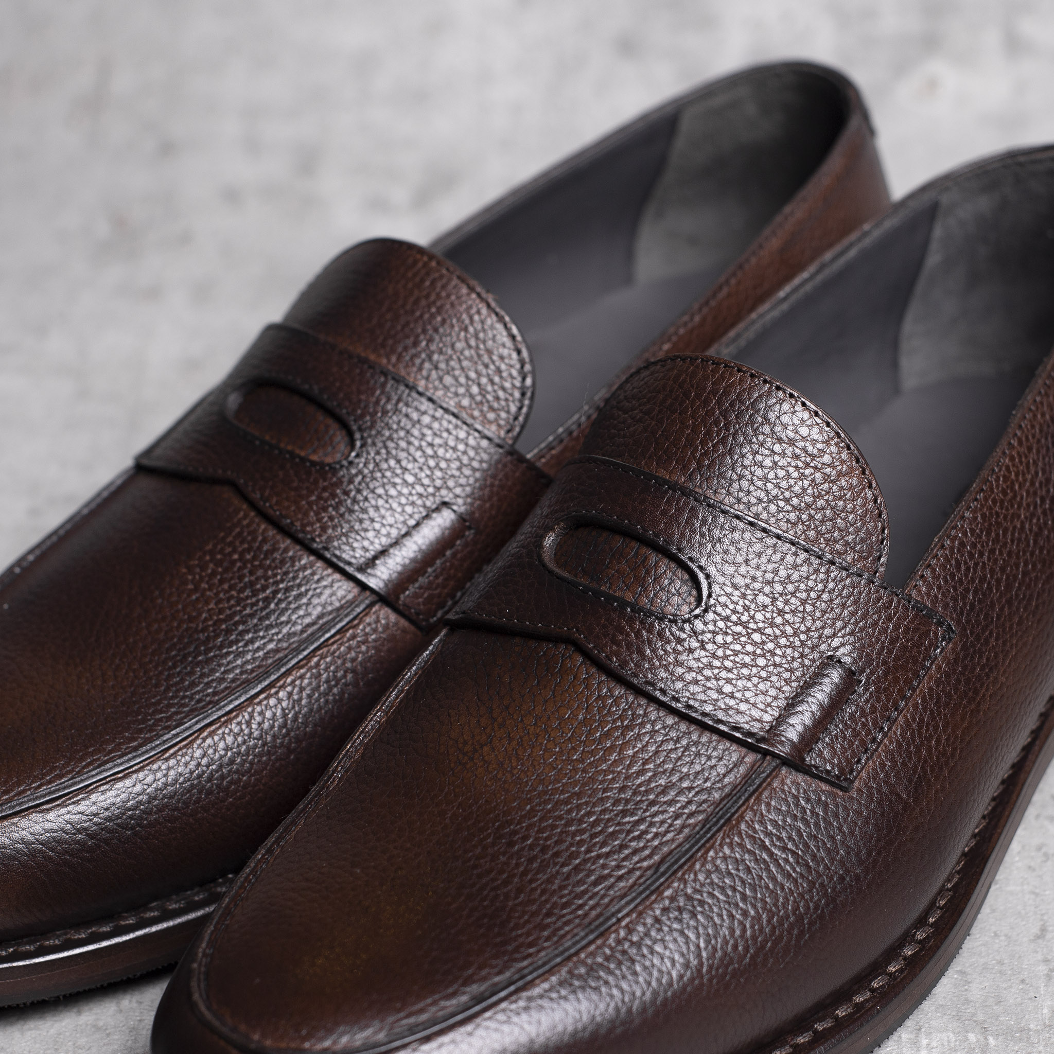 LOAFERS · 0647 Grain leather Toffee 6